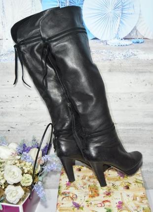 Кожаные бомфорты зимние еврозима кожа сапоги