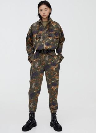Штани камуфляжні хаки воєнні pull&bear