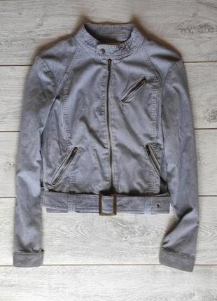 Вельветовая куртка под косуху с поясом от cherokee