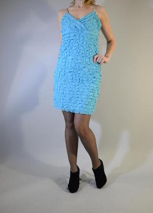 Платье мини с бахромой на бретельках платье-мини с подкладкой