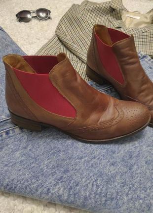 Трендовые кожаные ботинки челси от gabor
