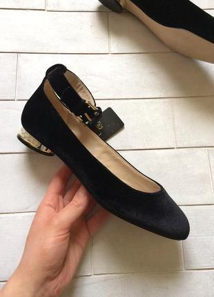 Massimo dutti кожаные туфли, балетки с жемчужинами, оригинал