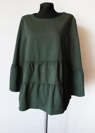 Красивейший шерстяной лонгслив блуза оверсайз cos 100% шерсть