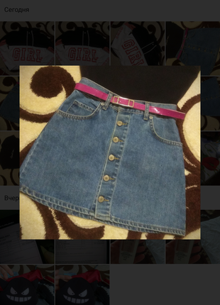 Стильная юбка мини 2020 пуговички