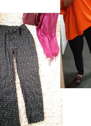 Легкие и комфортные  вискозовые брюки в принт,esmara, p 46-50