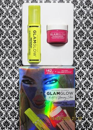 Набор glamglow forget the filter set : маска instamud и крем glowstarter