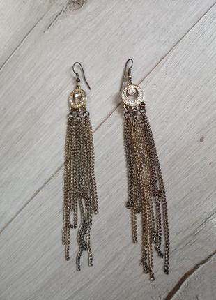 Длинные серёжки с цепочками