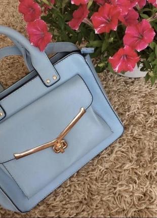 Весенняя сумочка бирюзового цвета