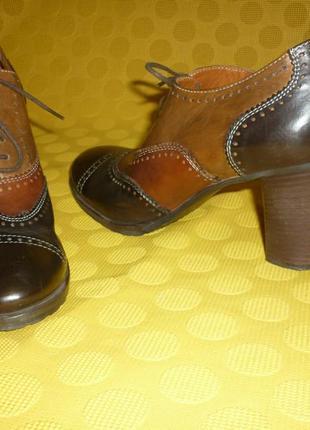 Кожаные туфли maripe (италия) 39р идеальное состояние