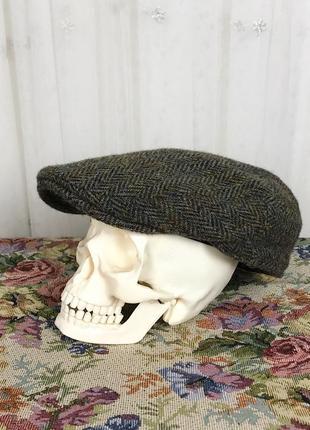 Винтажная твидовая шерстяная кепка жиганка harris tweed failsworth