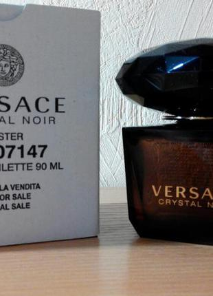 Versace crystal noir edt 90 мл тестер оригинал