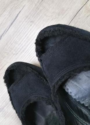 Туфли натуральная замша, с открытым носком7 фото