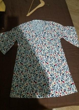 Платье zara цветы сарафан