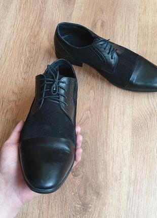 Стильные кожаные туфли на праздник