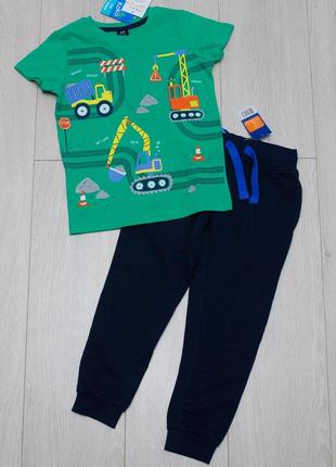Костюм, комплект футболка kiki&koko штаны джоггеры lupilu 110-116