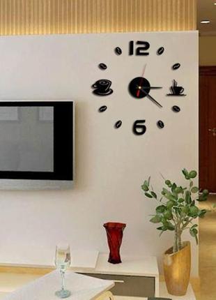 Настенные часы 3 d бескаркасные на кухню3 фото