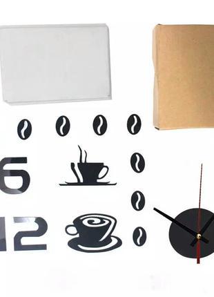 Настенные часы 3 d бескаркасные на кухню4 фото