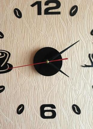 Настенные часы 3 d бескаркасные на кухню5 фото