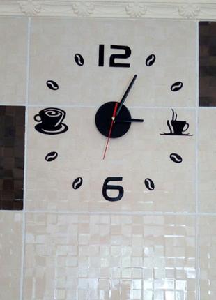 Настенные часы 3 d бескаркасные на кухню6 фото