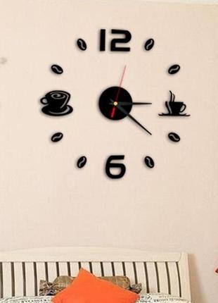 Настенные часы 3 d бескаркасные на кухню