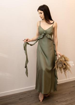 Сукня з натурального шовку українського бренду buton by khrystyna buniak