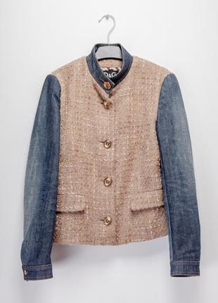Джинсовая куртка, пиджак, жакет d&g dolce & gabbana