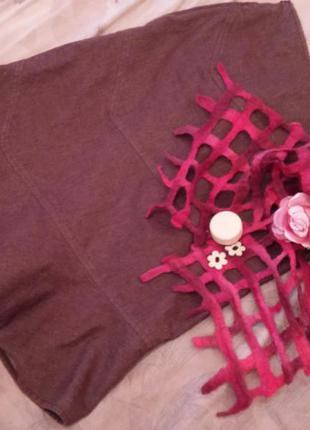 Асимметричная юбка - трапеция miss salfige. миди оригинального кроя м