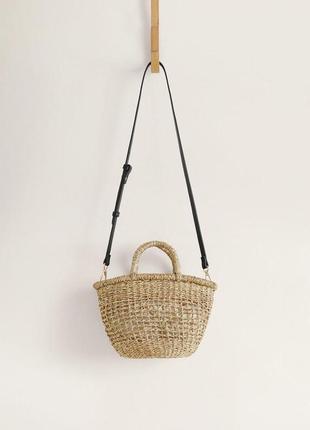 Плетеная сумочка mango ручной работы