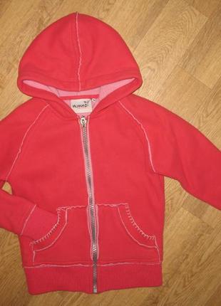 Демисезонная куртка флиска с капюшоном на молнии