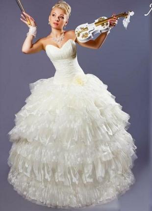 Свадебное платье любовь, со съёмной юбкой