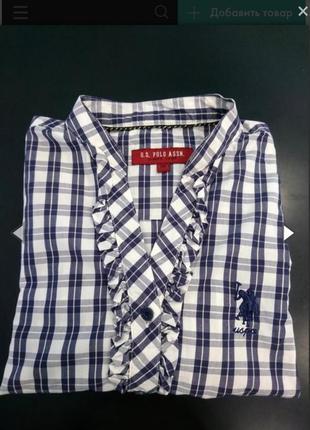 Рубашка женская u.s.polo. оригинал.