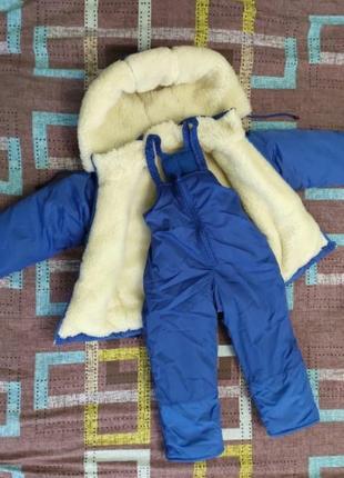 Теплый зимний комбинезон, зимняя куртка, зимний полукомбинезон