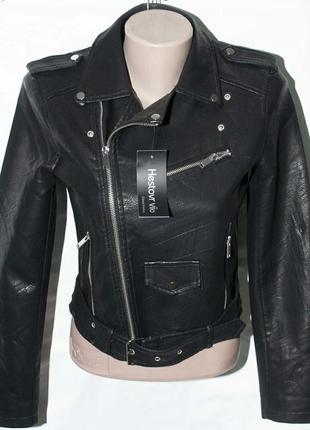Шикарная куртка косуха кожанка в стиле zara