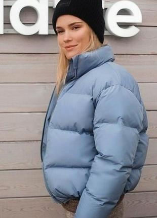 Шикарная куртка зефирка пуфер дутик демисезонная осень весна