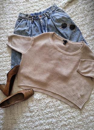 Стильный свитер ,джемпер оверсайз укороченный от basic h&m