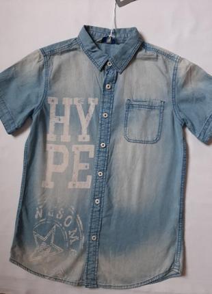 Рубашка джинсовая р 12\152