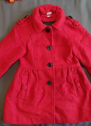 Пальто яркое красивое стильное длинное удлиненное деми демисезонное