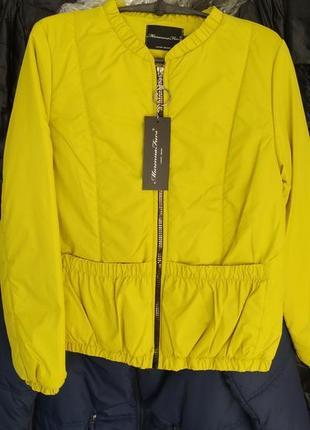 Бомбер куртка лайм murena furs