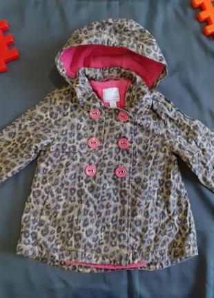 Куртка курточка ветровка плащ лео леопардовый принт с капюшоном яркая легкая next