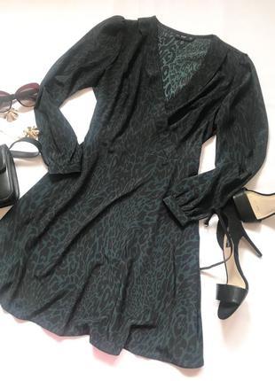 Платье в трендовый принт f&f р.14