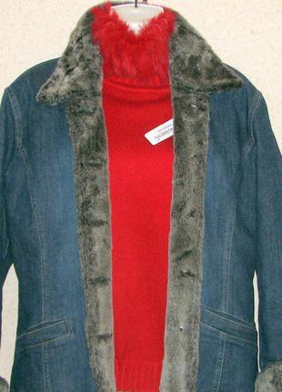 Olsen куртка джинсовая утепленная легкая р 14 50