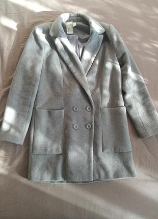 Пальто светло-серое forever21
