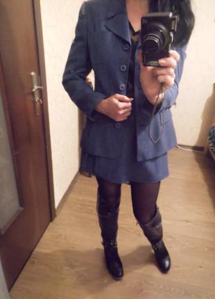 Костюм двойка пиджак и юбка шорты