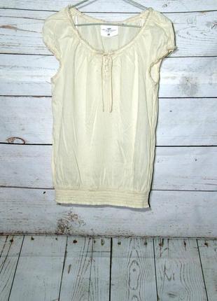 Брендовая летняя блуза бежевого цвета