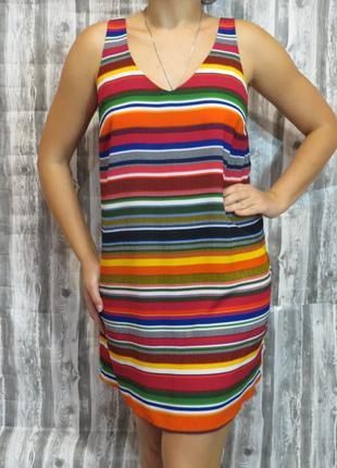 Яркий, летний сарафанчик платье с открытой спиной 48 размер