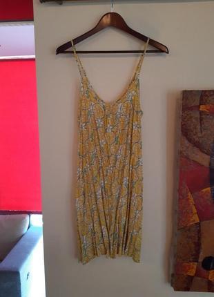 Летний сарафан и шлёпанцы в лимончиках / платья лимон