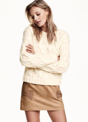 Новый вязаный тёплый свитер h&m, шерсть