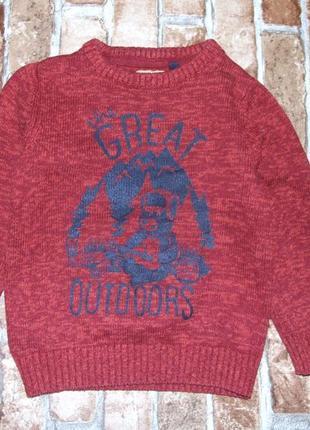 Кофта свитер мальчику 3 - 4 года tu