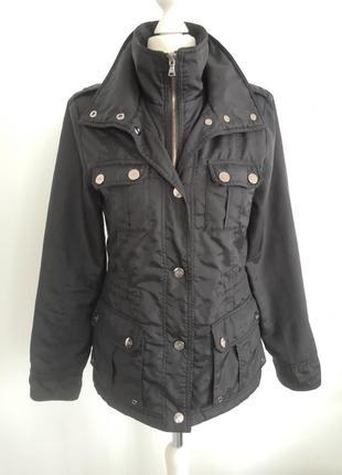 Чёрная осеннее - весенняя куртка