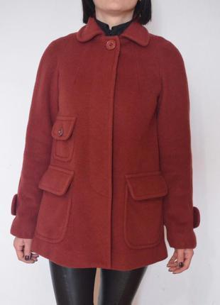 Лаконичное шерстяное пальто asos french connection ультрамодного цвета dusty cedar